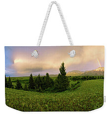Weekender Tote Bag featuring the photograph Warm The Soul Panorama by Chad Dutson