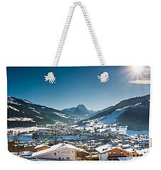 Warm Winter Day In Kirchberg Town Of Austria Weekender Tote Bag