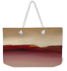 Weekender Tote Bag featuring the painting Warm Mountains by Michelle Abrams
