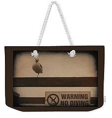 Warning No Diving 2 Weekender Tote Bag