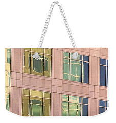 Warped Window Reflectionss Weekender Tote Bag by Linda Phelps