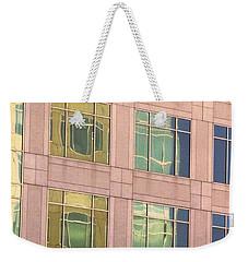 Warped Window Reflectionss Weekender Tote Bag
