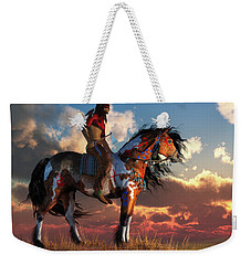 Warrior And War Horse Weekender Tote Bag