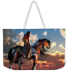 Warrior And War Horse Weekender Tote Bag