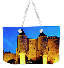 Weekender Tote Bag featuring the photograph Warsaw Barbican by Fabrizio Troiani