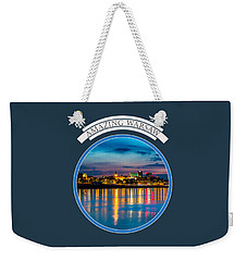 Warsaw Souvenir T-shirt Design 1 Blue Weekender Tote Bag