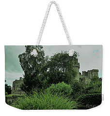 Warwick Castle Bathed In Green Light Weekender Tote Bag