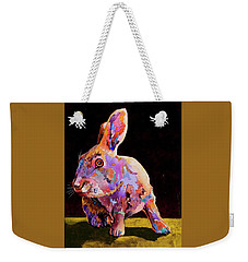 Weekender Tote Bag featuring the painting Wary by Bob Coonts