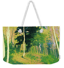 Weekender Tote Bag featuring the digital art Wasatch Mountain Jungle by David King