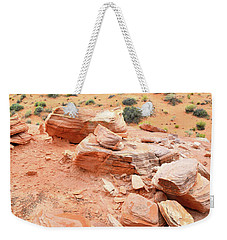 Weekender Tote Bag featuring the photograph Wash 4 In Valley Of Fire by Ray Mathis