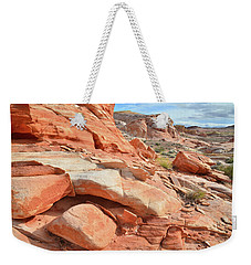 Wash 5 In Valley Of Fire Weekender Tote Bag by Ray Mathis