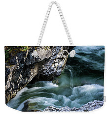 Weekender Tote Bag featuring the photograph Wash Away Your Worries - Nature Art by Jordan Blackstone