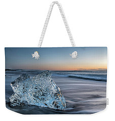 Washed Up Ice At Dawn Weekender Tote Bag