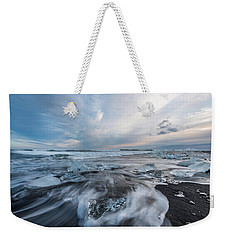 Washed Up Ice Sunset Weekender Tote Bag