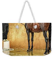 Washing A Horse Weekender Tote Bag by Robert FERD Frank