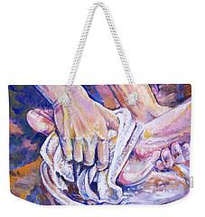 Washing Feet Weekender Tote Bag