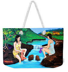 Washing In The River Weekender Tote Bag by Cyril Maza