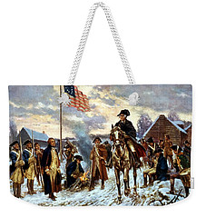 Washington At Valley Forge Weekender Tote Bag by War Is Hell Store