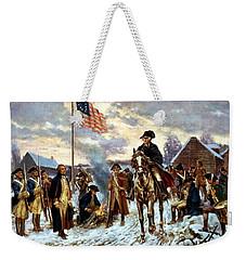 Washington At Valley Forge Weekender Tote Bag