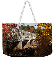 Washington Crossing Bridge Weekender Tote Bag by Elsa Marie Santoro