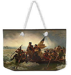 Weekender Tote Bag featuring the photograph Washington Crossing The Delaware by John Stephens