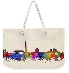Washington Dc Skyline Watercolor 2 Weekender Tote Bag