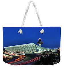Washington Dulles International Airport At Dusk Weekender Tote Bag by Paul Fearn