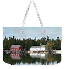 Washington Island Harbor 7 Weekender Tote Bag