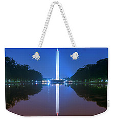 Washington Memorial And Reflecting Pool Weekender Tote Bag by Rima Biswas