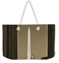 Washington Monument And Capitol #4 Weekender Tote Bag