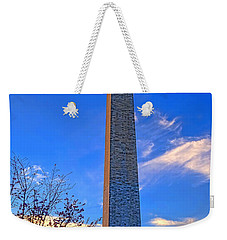 Washington Monument And Cherry Tree  Weekender Tote Bag