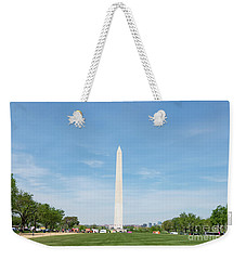 Weekender Tote Bag featuring the photograph Washington Monument by Anthony Baatz