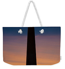 Washington Monument At Sunset Weekender Tote Bag