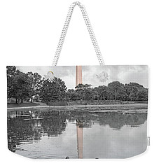 Washington Monument Mallards In Love Weekender Tote Bag