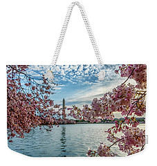 Washington Monument Through Cherry Blossoms Weekender Tote Bag