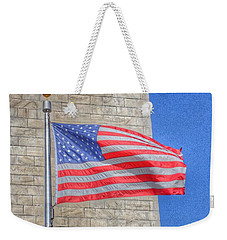 Washington Monument With The American Flag Weekender Tote Bag