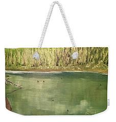 Washington Pine Lake Weekender Tote Bag