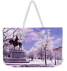 Weekender Tote Bag featuring the photograph Washington Square Park by Steve Karol