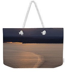 Washington State Ferry Sunset Weekender Tote Bag by Mike Reid