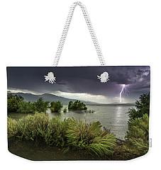 Washoe Lake Lightning Weekender Tote Bag