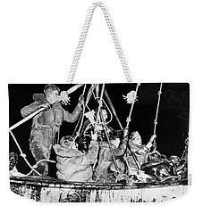 Weekender Tote Bag featuring the photograph Wasp Hobson Collision, 1952 by Granger