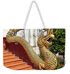Weekender Tote Bag featuring the photograph Wat Chiang Chom Phra Wihan Naga Dthcm0892 by Gerry Gantt