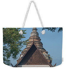Weekender Tote Bag featuring the photograph Wat Jed Yod Phra Ubosot Dthcm0967 by Gerry Gantt