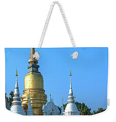 Weekender Tote Bag featuring the photograph Wat Suan Dok Buddha Relics Chedi Dthcm0949 by Gerry Gantt
