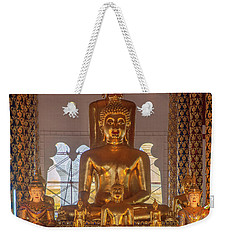 Weekender Tote Bag featuring the photograph Wat Suan Dok Wihan Luang Buddha Images Dthcm0952 by Gerry Gantt