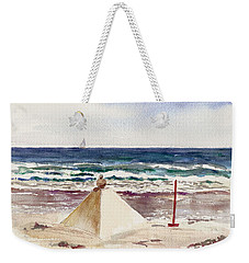 Watch Hill Ri Sand Sculpture Weekender Tote Bag