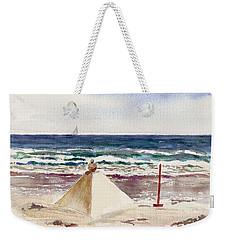 Watch Hill Ri Sand Sculpture Weekender Tote Bag by Joan Hartenstein