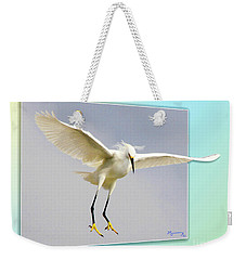 Watch Out Below Weekender Tote Bag by Mariarosa Rockefeller
