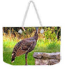 Watch Out Mr. #wild #turkey, I Would Weekender Tote Bag by Austin Tuxedo Cat