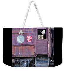 Watch Your Step Vintage Railroad Car Weekender Tote Bag by Terry DeLuco